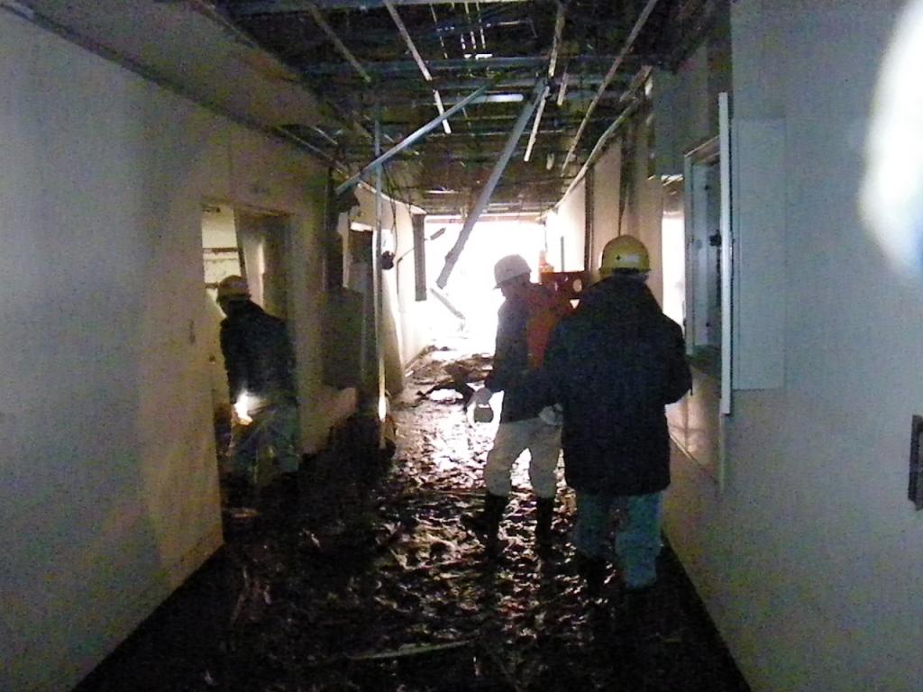 石巻東部浄化センターの状況(建物内部)